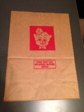Vintage Piggly Wiggly Brown Paper Grocery Bag-great condition! (#6-5)