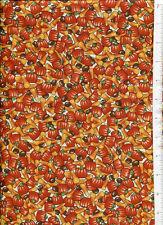 TRICK or TREAT PARADE ~ CANDY CORN & PUMPKINS ~ halloween fabric RJR