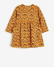 Next Niñas Vestido de Jacquard ocre animal 6-7 años 122 Cm Nuevo