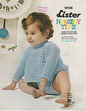 "vintage LISTER 2188 photo copy  crochet Pattern BABY angel top & pants 18""-20"""
