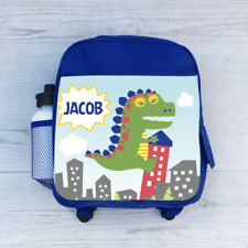 Personalizado Dino Dinosaurio de Peluche RAW, Chicos Niños Mochila Bolso Escolar, Para Niños
