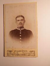 Berlin - Soldat in Uniform - Portrait / CDV Adolf Stern