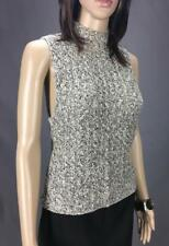 ** TRENT NATHAN ** Sz L (12) Beige Black Knit Casual Sleeveless Top - (A318)