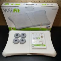 Nintendo Wii Fit Balance Board W/ Box & CIB Game - Tested! Free Shipping!