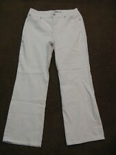 "women's BANDOLINOBLU jeans--white--size 12--Inseam 29"""