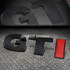FOR VW GTI GOLF/JETTA METAL BUMPER TRUNK DOOR GRILL EMBLEM DECAL BADGE BLACK RED