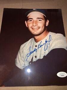"""Sandy Koifax Autographed Photo (8x 10"""") JSA cert. Dodgers. HoF"""