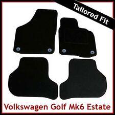 Volkswagen VW Golf Mk6 Estate 2009-2013 Tailored Carpet Car Mats BLACK