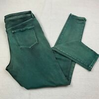 Nine West Jeans Womens 12 Jessica Jegging Jeans Green Hue Stretch Skinny Pants