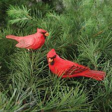 Cardinal Clip Christmas Ornament, Assortment of 2, Wood,CF65980
