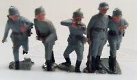 1963 MARX Miniature Battleground Playset Figures Blue Lot of 5 Mini Miniature K