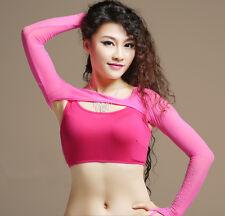 Belly Dance Ballroom Bolero Diamond Shrug Stretch Mesh Glitter Arm Glove 8 Color