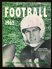1962 NCAA Official Record Book Sonny Gibbs TCU Ex 15661