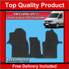 NEW VW CRAFTER 2017+ FRONT CARPET MAT BLACK TAILORED MATS LUXURY VELOUR FLOOR