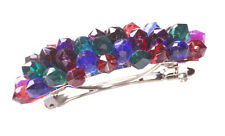 Retro Rustic Ladies Colorful Spiked Gemstone Hair Clip Set Unqiue (ZX58/A23)