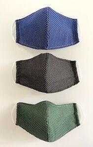 Masque protection en tissu lavable réutilisable alternatif grand public Polka