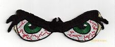 BLOODSHOT GREEN EYEBALLS GLASSES HAT VEST PATCH PIN UP QUILT GIFT EYES COSTUME