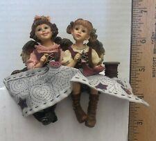 """Boyd's #36006 """"Ann and Abby Angelstitch"""". Shelf Sitting Sewing Girls"""