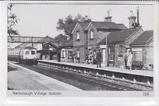 Modern Postcard NARBOROUGH Village Railway Station / Platform with DMU TRAIN