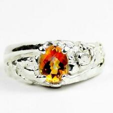 925 Sterling Silver Men's Nugget Ring, Twilight Fire Topaz, SR368
