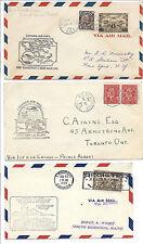 Canada FFC First Flight Cover Lot of 3 - 1929, 1932, 1934 - NWT, Saskatchewan*