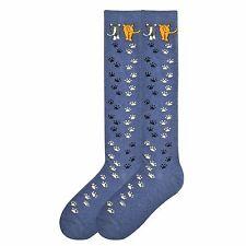 """Cat Socks """"Cat Walk""""  Denim Blue KNEE HIGH Socks * One Size Fits Most"""