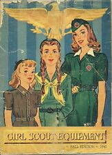 SPRING 1942 FALL EDITION GIRL SCOUT EQUIPMENT CATALOG -  WW II LISTINGS