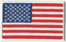 écusson ECUSSON  PATCHE THERMOCOLLANT DRAPEAU USA ETATS UNIS 8X5CM BORDURE BLANC