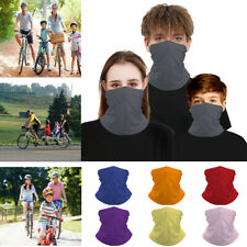 Parent-child Tube Scarf Solid Color Gaiter Bandana Headband Face Neck Balaclava