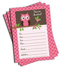 50 Pink Owl Invitations (LARGE 5x7) Baby Shower - Birthday Party - Any Occasion