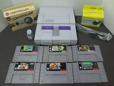 SNES Super Nintendo System + 1 Controller + 6 Games/ Super Mario All Stars