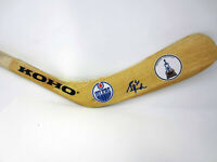 GRANT FUHR Edmonton Oilers Autograph SIGNED Hockey Stick Blade w/ COA