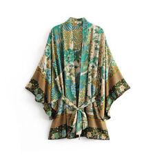 NWT TDDPSSHDP Boho Peacock Floral Print Kimono like Spell and the Gypsy sz S