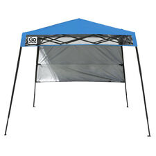 Pop-Up Shade 7.5x7.5-ft Square Blue Steel Frame Mesh Fabric Outdoor Canopy New