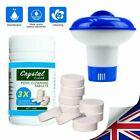 100X Pool Cleaning Tablets & Floating Chlorine Hot Tub Dispenser Chemical Kit UK