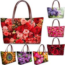 Ladies Womens Floral Designer Shoulder Bag Summer Hand Tote Shopping Handbag