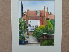 Robin Hoods Bay , original painting, watercolour with mount,Yorkshire art