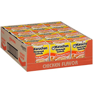 Maruchan Instant Lunch Chicken Flavor, 2.25 Ounce Pack of 12