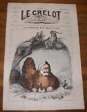 Le Grelot Journal Satirique N°101 La Cocote aux oeufs d'Or 16/03/1873