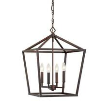 Millennium Lighting 4-Light 16 in. Wide Rubbed Bronze Taper Candle Pendant