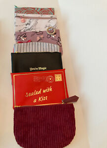 Lot of 7 Ipsy Cosmetic Makeup Bags  New