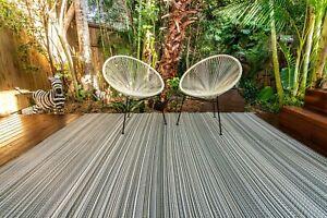 200x270cm Mexicali GREY Outdoor/Indoor Plastic Rug/Mat Waterproof