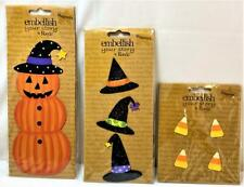 Lot Demdaco Embellish Your Story Roeda Magnet Halloween Witch Pumpkin Candy Corn