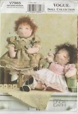 OOP Vogue Sewing Pattern 7985 Baby Dolls and Clothes 15 inches