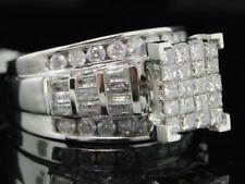 Diamond Engagement Ring Ladies 14K White Gold Princess Round Baguette Wedding