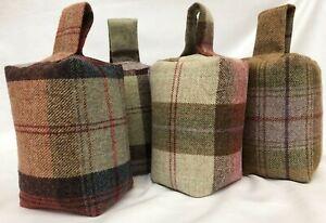 Tweed Door Stops, Decorative Wool Fabric Door Stops, Heavy weight 1.5 Kg,