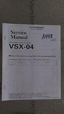 Pioneer vsx-04 service manual original repair book stereo av receiver radio