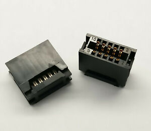 2 PCS. 10-Pin Card Edge Female IDC connector for 2.54mm pitch flat ribbon cable