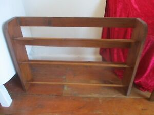 Vintage wooden shoe rack stand wood antique
