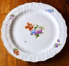 ROYAL COPENHAGEN Porcelain 493 Light Saxon Flower 1563 Chop Plate Platter
